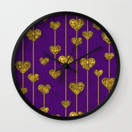 SteamPunk Love / Violet Wall Clock