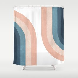 70s Rainbow Shower Curtain