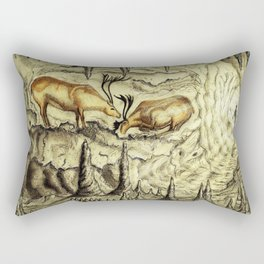 Rock Shelter Reindeer  Rectangular Pillow