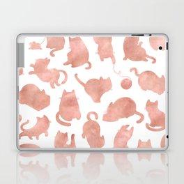 Cat Pattern Rose Gold Kitty Cats Laptop & iPad Skin
