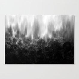 B&W Spotted Blur Canvas Print