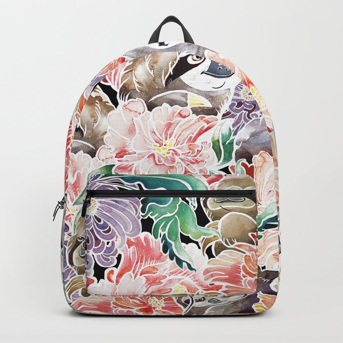 Because Sloths Watercolor Backpack