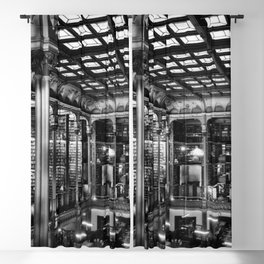 A Book Lover's Dream - Cast-iron Book Alcoves of Old Cincinnati Public Library No. 4 photograph Blackout Curtain