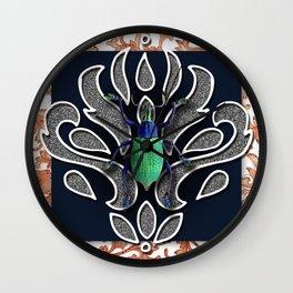 GREEN BEETLE Wall Clock