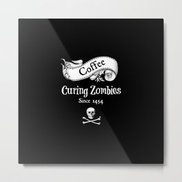 Curing Zombies Metal Print