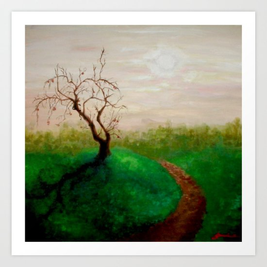 the apple falls not far from the tree Art Print