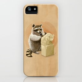 Raccoon in Pursuit of Perfection iPhone Case