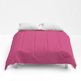 Pink Peacock | Pantone Fashion Color | Autumn : Winter 2018 | London | Solid Color Comforters