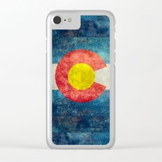 Colorado State Flag Clear iPhone Case