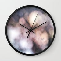 the lights Wall Clocks featuring LIGHTS by MadiS
