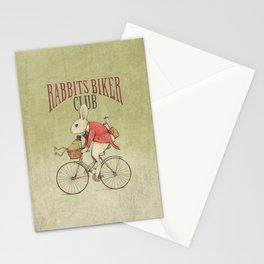 Rabbits Biker Club Stationery Cards