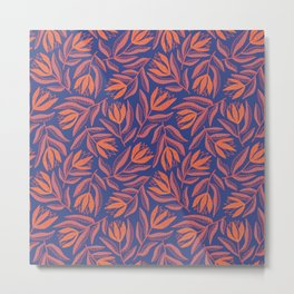 Red tulips at night Metal Print