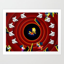 Simpsons Pop Art Art Print