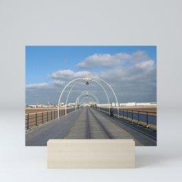 seaside view - historic southport pier Mini Art Print