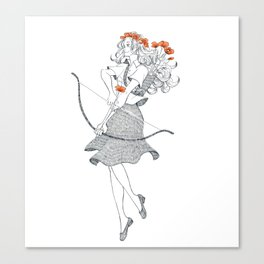The Poppy (April 20 - May 20) Canvas Print