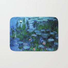 Claude Monet Water Lilies / Nymphéas deep Bath Mat