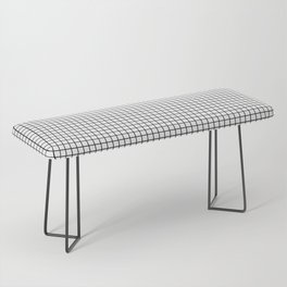 Black and White Grid Graph Bench
