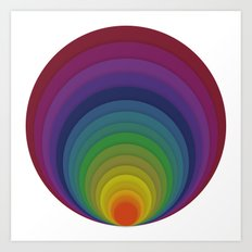 Rainbow circles Art Print