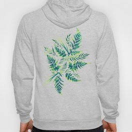 Fern leaves - green Hoody