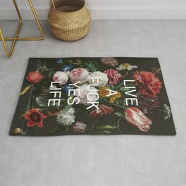 LIVE A FUCK YES LIFE Rug