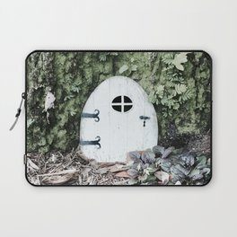 Door to a Tiny House at the Base of a Tree Laptop Sleeve