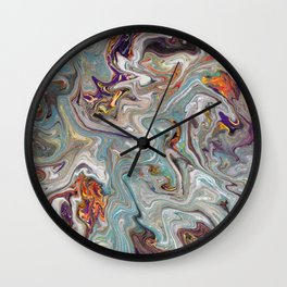 Abstract Oil Painting 9 Wall Clock