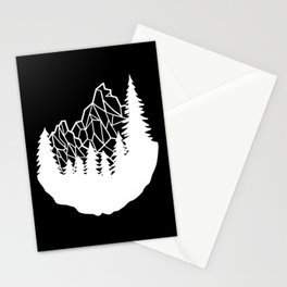 Mountain Geometry Stationery Cards