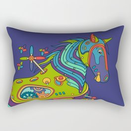 Horse, cool wall art for kids and adults alike Rectangular Pillow