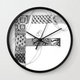 """Zenletter """"F"""" Wall Clock"""