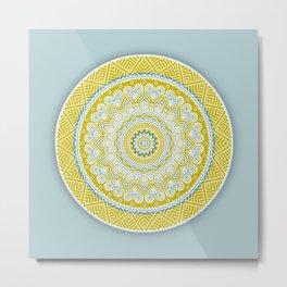 Mustard Mandala Metal Print