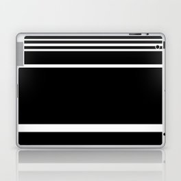 Black & White Stripes Laptop & iPad Skin