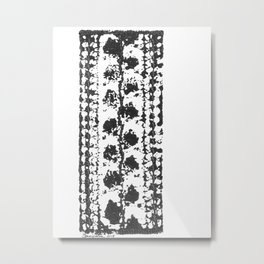 Crochet Impressions: LEAVES Metal Print