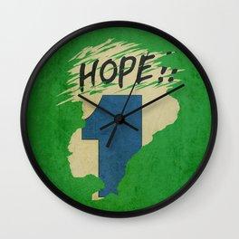 Hope!! (time machine ) Wall Clock