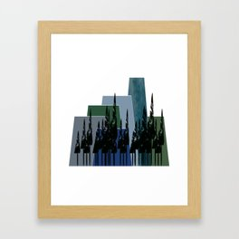 High Mountains Framed Art Print