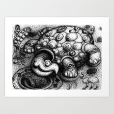 Eye Turtle Art Print