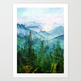 Spring Mountainscape Art Print