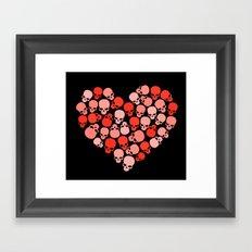 SKULL HEART FOR VALENTINE'S DAY Framed Art Print