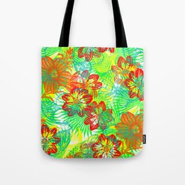 Etched Anemone Tote Bag