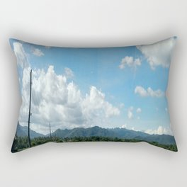Blue sky and the rice field in the countryside Rectangular Pillow
