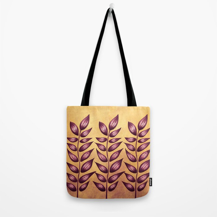Abstract Plant With Purple Leaves Tote Bag