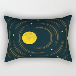 Moon And Stars Dream Rectangular Pillow