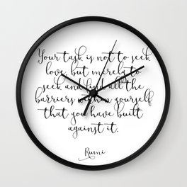 Love by Rumi Wall Clock