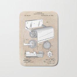 patent art Morgan Toilet paper fixture 1892 Bath Mat