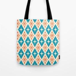 Mid Century Modern Atomic Triangle Pattern 107 Tote Bag