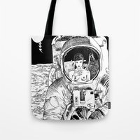 apollonia Tote Bags featuring asc 333 - La rencontre rapprochée ( The close encounter) by From Apollonia with Love