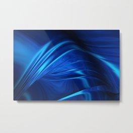 Dark Blue Abstraction Metal Print