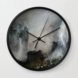 Château Noir pour Dame Blanche Wall Clock