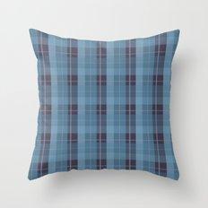 AFE Blue Plaid Pattern II Throw Pillow