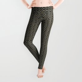 Faux Chainmail over Canvas Leggings