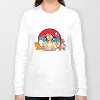 charizard Long Sleeve T-shirts featuring Charizard evolution by Fred Vilair